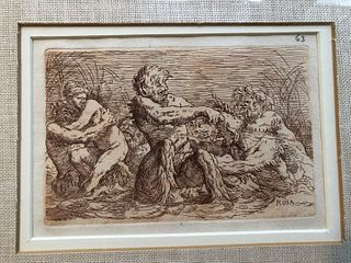 Two Early Etchings Salvator Rosa (1615-1673)