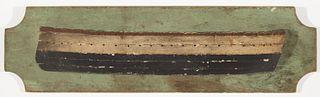 Early Wood Ship Half-Hull Model
