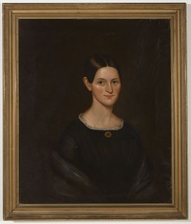 Portrait of a young lady by Joseph Goodhue Chandler