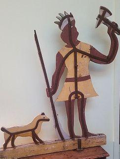 Large and Impressive Wood & Iron Indian Weatherve