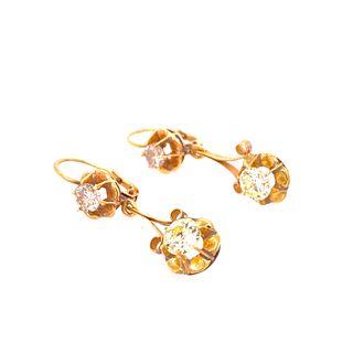 18k Gold Diamonds Earrings