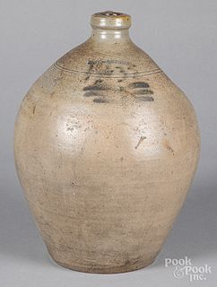 New Jersey stoneware jug, 19th c.