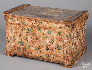 Wallpaper covered box, 19th c.