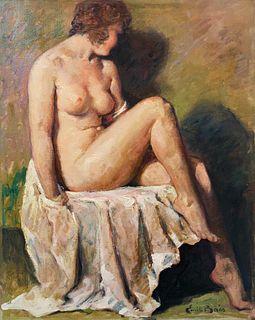 Emile Baes, A Seated Nude