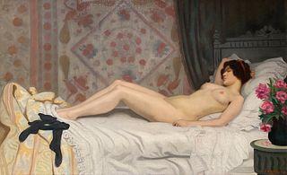 Camille Leon Baragnon, A Reclining Female Nude