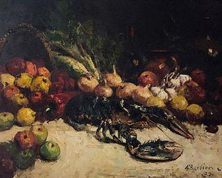 Alfred Théodore Joseph Bastien, Nature Morte au Homard