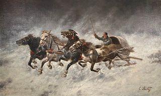 Adolf (Constantin) Baumgartner-Stoiloff, Horse Sleigh