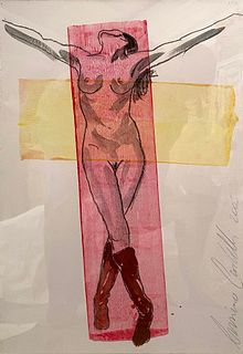 Luciano Castelli, Untitled (Crucified Woman), 2003