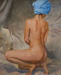Denis Chernov, Nude with Blue Turban
