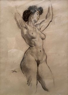 Augustus Edwin John, Female Nude