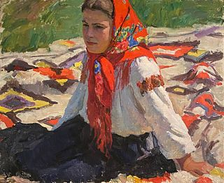 Russian, 20th Century, A Young Lady in Summer, c. 1962
