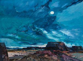Laurence Philip Sisson | Full Moon Over Mesas