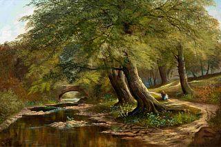 Henry Dawson (British, 1811-1878) Untitled (The Country Lane)