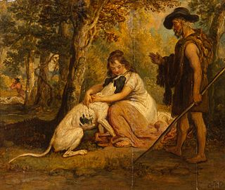 James Ward (British, 1769-1859) Untitled (Two Figures and Dog)