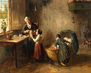 Bernard de Hoog (Dutch, 1867-1943) Peaceful Afternoon