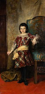 Gyula Tornai (Hungarian, 1861-1928) Portrait of a Girl, 1892