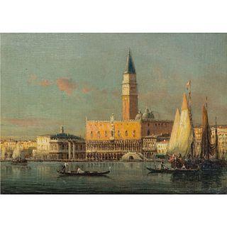 Antoine Bouvard (French, 1870-1956) View of Venice
