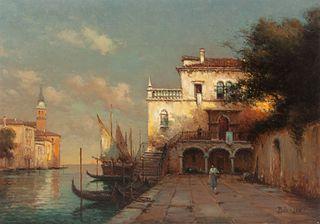 Antoine Bouvard (French, 1870-1956) Venetian Scene