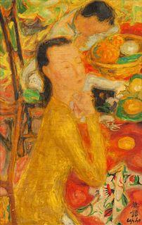 Le Pho (Vietnamese/French, 1907-201) La Meditation, c. 1955