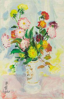 Le Pho (Vietnamese/French, 1907-2001) Untitled (Vase of Flowers)