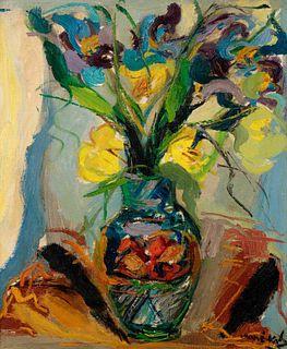 Mane-Katz (French/Ukrainian, 1894-1962) Bowl of Irises, 1935