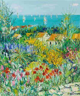 Yolande Ardissone (French, b. 1927) Antheor, jardin de l'artiste