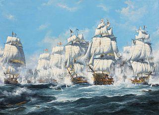 John Bentham-Dinsdale (British, 1927-2006) The Battle of Trafalgar