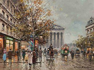 Antoine Blanchard(French, 1910-1988)Rue Royale, Madeleine, Paris