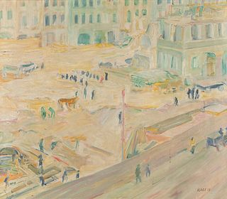 Georges (Karpeles) Kars (Czech, 1882-1945) Reconstruction of the Old Town in Prague, 1908