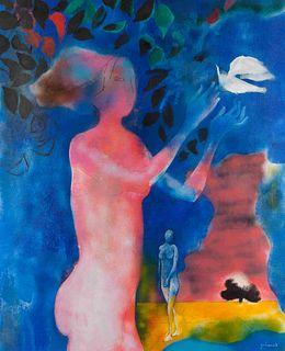 Paul Guiramand  (French, 1926-2008) Untitled (Femmes dans le paysage)