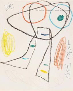 Joan Miro (Spanish, 1893-1983) Untitled (on the title page of Son Abrines-Calamayor- Palma de Mallorca), 1965