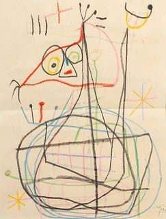 Joan Miro (Spanish, 1893-1983) Untitled, 1957