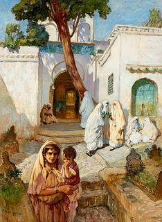 Frederick Arthur Bridgman  (American, 1857-1928) Women Near the Sidi Abderrahman, c. 1880-90