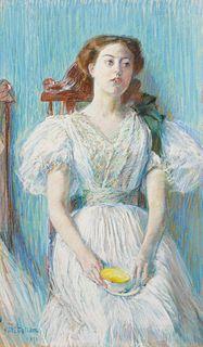 Childe Hassam (American, 1859-1935)  Portrait of Ethel Moore, 1892
