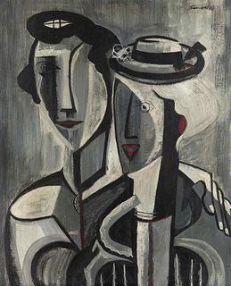 Walter Sanford (American, 1912-1987) Susan and Friend, 1948