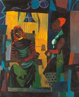 William Sylvester Carter (American, 1909-1996) Women in Interior