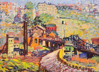 Jan Matulka (American/Czech, 1890-1972) Inwood Heights, New York City