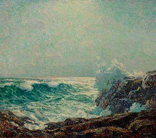 Wilson Henry Irvine (American, 1969-1936) Crashing Waves