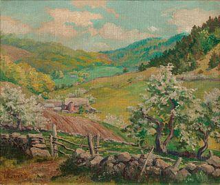 Wilson Henry Irvine (American, 1869-1936) A Farmyard in Spring