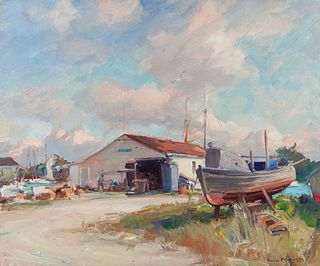 Emile Albert Gruppe (American, 1896-1978) Pompano Shed