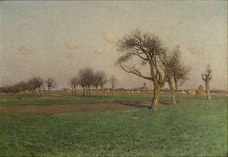 Charles Harold Davis(American, 1856-1933)Landscape, 1884
