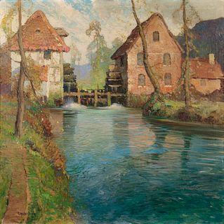 George Ames Aldrich (American, 1872-1941) River Scene