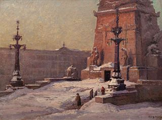 Theodore Clement Steele (American, 1847-1926) Soldiers' and Sailors' Monument of Indianapolis, 1917
