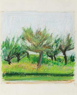 Jane Freilicher (American, 1924-2014) Untitled (Orchard), 1967