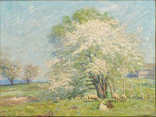 Alexis Jean Fournier  (American, 1865-1948) Spring Lambs, c. 1915