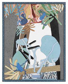 Gladys Nilsson (American, b. 1940) Gr-Apes, 1972