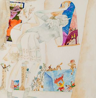 Gladys Nilsson (American, b. 1940) Monastic Views, 1991