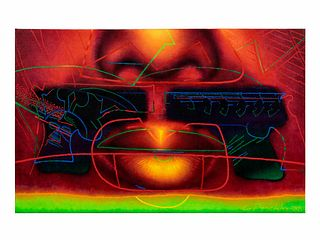 Ed Paschke (American, 1939-2004) Red Impressions, 1988