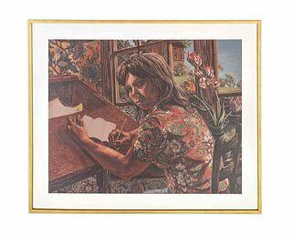 Jack Beal (American, 1931-2013) Sandra at Her Desk