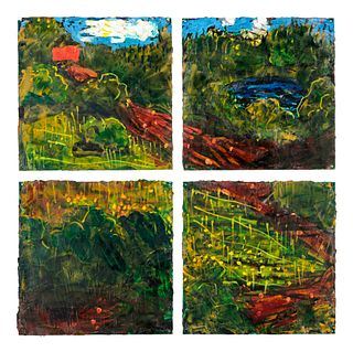 Jennifer Bartlett (American, b. 1941) Green Landscape,1998-99